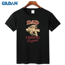 Dad Fishinger Legend T-Shirt Sites 2017 Designs For Shirt Big Size Cheap Tee Shirt Mens Cotton Simple(China)