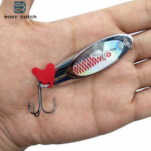 Easy Catch 10pcs 28g Hard Metal Spoon Fishing Lures Saltwater Fishing China Silver Jig Trout Spinner Bait Fishing Blade Wobblers