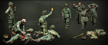 Unpainted Kit 1/35 U.S. Army and German soldiers   figure Historical WWII Figure Resin  Kit Free Shipping