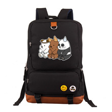 Bare Bears cute Bear oxfords bag backpack Girls women Student School Bags Cartoon travel Shoulder Bag boys