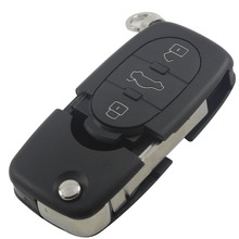 3+1 Panic 4 Buttons Remote Flip Folding Car Key Shell Case Keyless Fob For Audi A4 A6 A8 TT Allroad Quattro S4 S6 S8