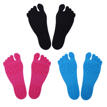 1 Pair Hypoallergenic Adhesive Feet Pad Stick Waterproof Heat-insulated Skid Resistance Invisible Insole Sticker Shoes Pads(China)