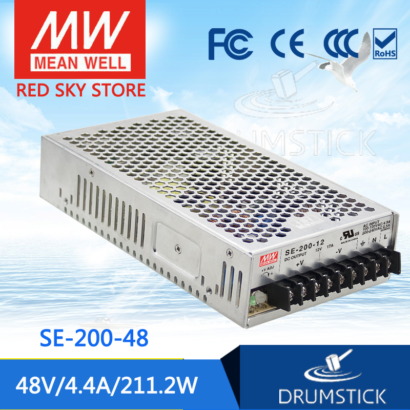 best-selling MEAN WELL SE-200-48 48V 4.4A meanwell SE-200 48V 212.4W Single Output Switching Power Supply<br>