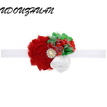 Christmas Hollyween Ornaments Headdress Flower Elastic Hair Band Hair Accessories Multicolor Headwear Perfect Gift