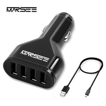 Car Charger,MARSEE 48W 4-Port USB Smart Fast Charging, Auto Detect Technology for Smart Phones