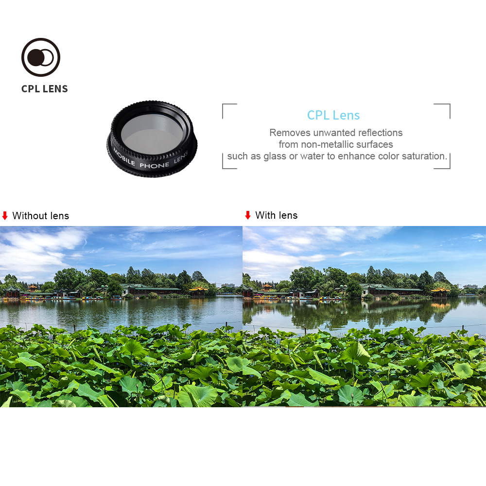 APEXEL Phone Camera Lens Kit Fish Eye Wide Angle/macro Lens CPL Kaleidoscope and 2X telephoto zoom Lens 7in1 for iPhone SAMSUNG 7