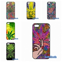 Psychedelic Ganja Pot Leaf Best Hard Phone Cases Cover For Blackberry Z10 Q10 HTC Desire 816 820 One X S M7 M8 M9 A9 Plus(China)