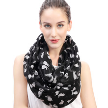 Rabbit Bunny Animal Pet Print Women's Infinity Loop Scarf Gift Accessory Soft Lightweight for All Seasons