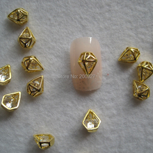 MD-630 10pcs Fancy Zircon Stone Gold Diamond Deco Metal Charms Metal Deco Charms Nail Art
