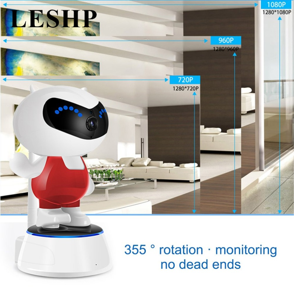 Kawaii doll-type Intelligent Head Shaking Camera Support Mobile APP for Baby monitoring safety protection And Indoor Monitoring<br>
