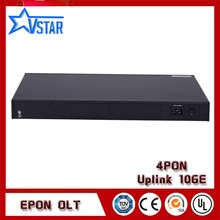 EPON OLT 4 PORTS suit for HUAWEI, ZTE, FiberHome ONU ONT,4 uplink 10GE ports with  EMS Software