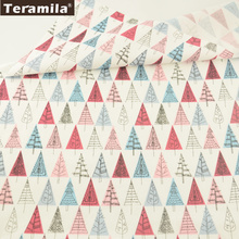 Teramila Cotton Fabrics Cartoon Red and Blue Trees Patterns Quilting Patchwork Cloth Decoration Bedding Tela Sewing Home Textile(China)