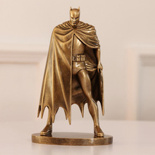 2 Types 1PCS Imitation Copper 20cm Resin DC Comics Batman Action Figures Models Toy Car Decoration Kids Gifts
