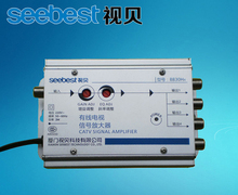 SB-8830H4 CATV signal  Amplifier 30db adjustable gain TV Signal BOOSTER  4WAY Cable TV power SPLITTER