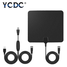 YCDC HDTV Antena Receive local signal 50 Miles Amplified Hdtv Antenna Indoor Digital Tv Antennas Signal Amplifier Booster(China)