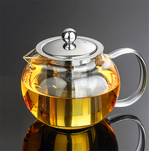 Durable 3 sizes Heat Resistant Glass Tea Pot Flower Tea Set Puer kettle Coffee Teapot Convenient With Infuser Office Home Teaset