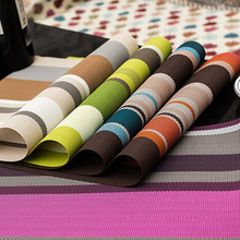 2pcs/Lot Europe Style PVC Dining Table Mat Kitchen Accessories Stripe Rectangle Placemats For Table 30*45cm