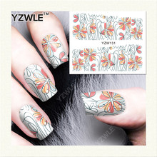 YZWLE 1 Sheet DIY Designer Water Transfer Nails Art Sticker / Nail Water Decals / Nail Stickers Accessories (YZW-131)(China)
