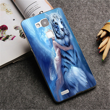 The wings of an angel White tiger dream fashion Down Design phone Cover Case for huawei P8 lite P8 P9 plus P9 Mate 8 7