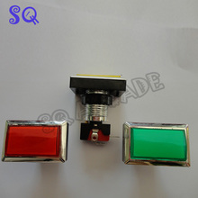 50*33mm Gaminator Push Button Illuminated Rectangle Push Button Slot Game Machine Button 8 coclors