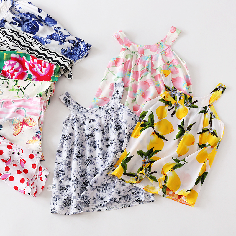 2018 new color cotton silk vest skirt artificial cotton skirt children's clothing manufacturers wholesale 17