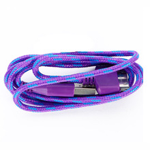 Practical Braided Fabric Phone Cable USB Data Sync Charger Cable Charging Cord For iPhone 4s 4