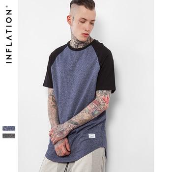 INFLATION Prolongée de 2017 Nouvelle Arrivée D'été Hommes Patchwork T-shirt Lâche Solide Tops