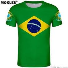 BRASIL t camisa número nome personalizado gratuitamente bra t-shirt país  portugal bandeira português br e6c4a0c7311b5