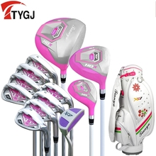 Brand TTYGJ 13-pieces golf clubs ladies women golf clubs complete golf set with bag beginner exercise clubs golf irons set