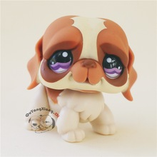CWG072 Pet Shop Animal Brown and white pug doll action Figure cute puppy(China)