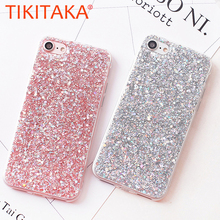 Buy Candy Shining Powder Sequins Phone Cases iPhone X 8 7 6 6S Plus Case Soft Silicone Glitter Back Cover iPhone 5s SE Capa for $1.48 in AliExpress store