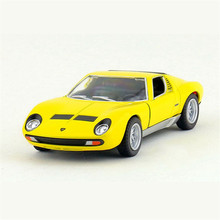 Kinsmart 1:34 Simulation Sports Car Model Toy, Miniature Die cast & ABS Racing Cars, Pull Back Vehicle, Kids Toys, Juguetes