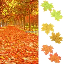 100pcs Fall Silk Maple Leaf Autumn Leaves Decorations For Wedding Favor