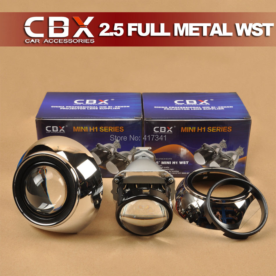 2.5 Full Metal LEADER H1 HID Bi-xenon Projector Lens LHD/RHD with Hi/lo + TG Shroud for H1 H4 H7 H11 9005 9006 Auto Headlight<br><br>Aliexpress