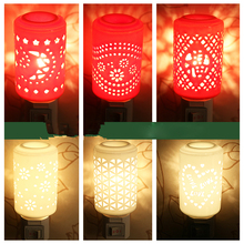 Z Ceramics Creative Festival Wall lamp LED Energy Conservation romantic Soft light Hollow Plug Tape switch Bedside Nightlight