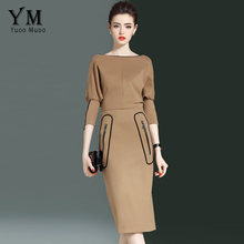 Buy YuooMuoo New European Fashion Luxury Business Office Dress Women Autumn Brief Pencil Dress Ladies Elegant Knee-length Work Dress for $25.74 in AliExpress store