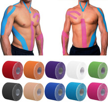 5cm x 5m Sports Muscle Stickers Tape Roll Cotton Elastic Adhesive Muscle Bandage Strain Injury Support 12 Colors(China)