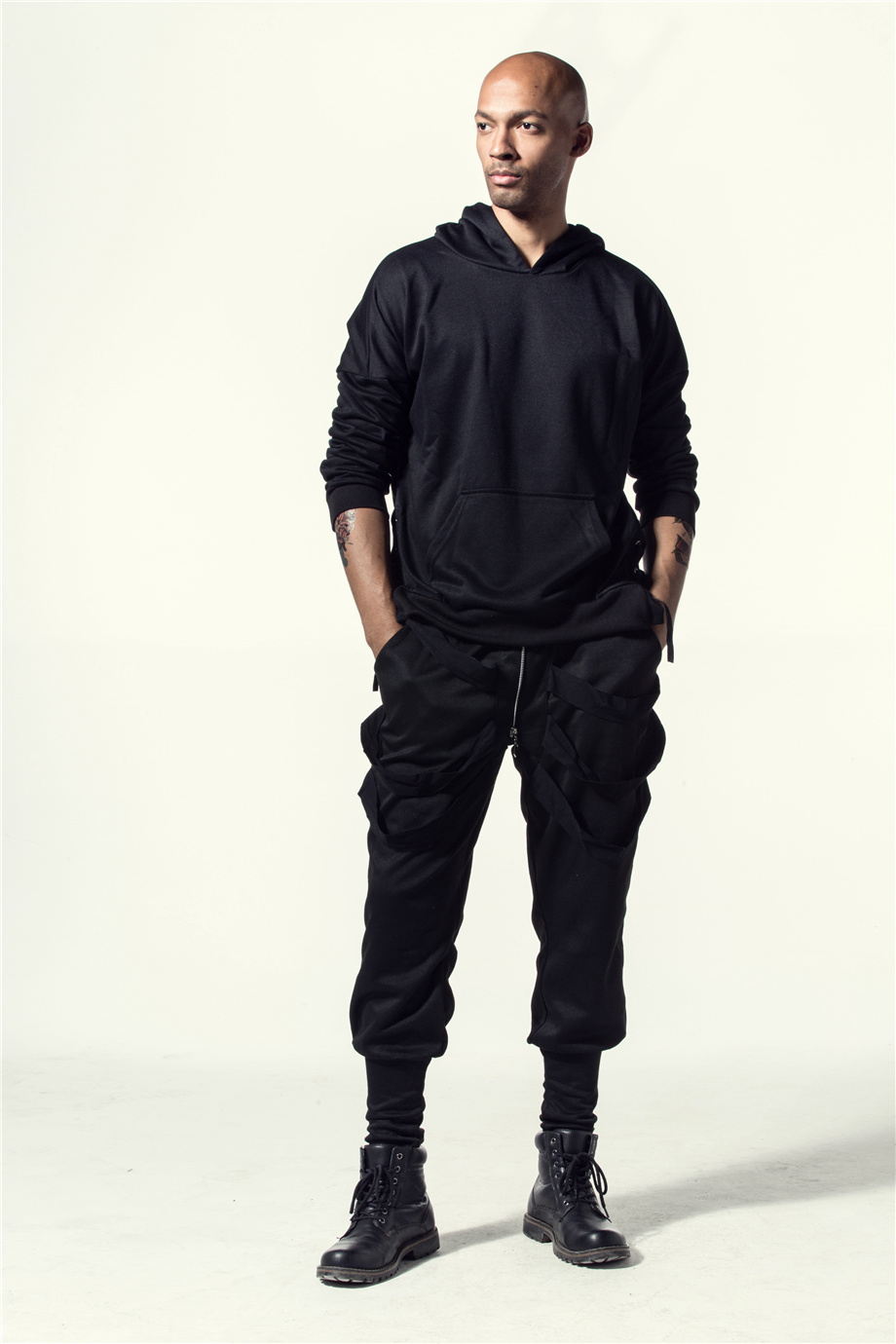 Una Reta Brand New Design Hoodie Men Fashion Sweatshirts Bandage Design Hip-Hop Style Plus Size M-5XL Pullover Sweatshirts Men 7