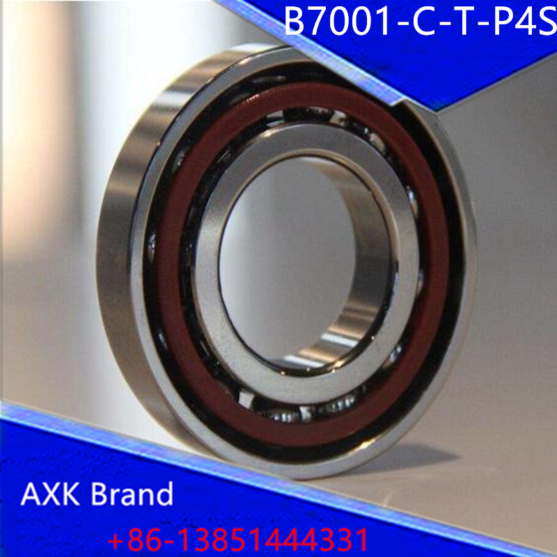 Bearings B7001-C-T-P4S 7001 7001C 36101 46101 P4 ABEC 7 Spindle bearings are single row angular contact ball bearings<br>