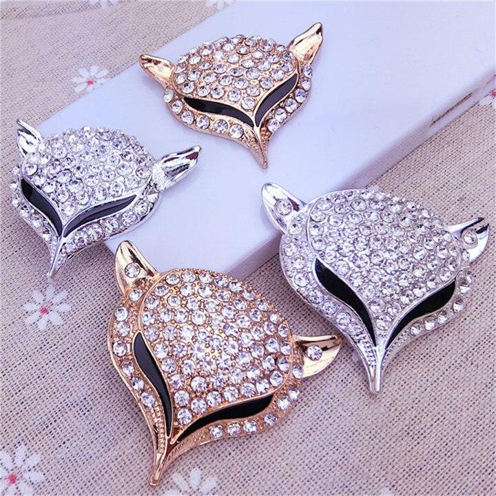 5  Fox Headed Rhinestone Jewelry Findings Alloy Handmade Craft For Bracelet Necklace Jewelry Making Decor Diy Accessories