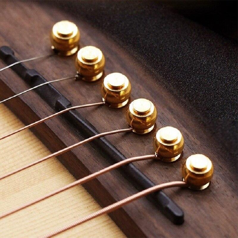 6 stk Slotted Guitar Bridge Pins Messing Gitarre Bridge Pins Zubehör Repair Tool