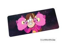 HD print gravity falls mouse pad locked edge pad to mouse notbook computer mousepad 90x40cm gaming padmouse gamer keyboard mats