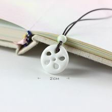 Ceramic Charm Necklace For Women/Men Chains Long Weave Rope Link Choker White Color Lotus Root Pattern Necklaces Sweater Jewelry