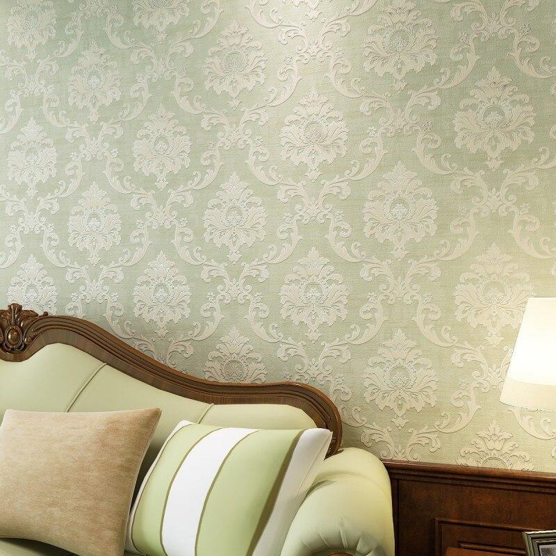 High-end vintage European environmental non-woven wallpaper background wallpaper the living room wallpaper printing Damascus<br><br>Aliexpress