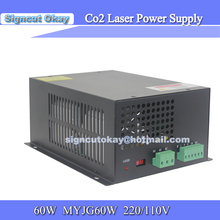 Laser Power Supply Model MYJQ 60w 220V/110V used for EFR Tube /Weiju Tube Co2 Laser Tube 60W(China)