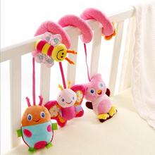 2016 new infant Toys Music Baby crib revolves around the bed stroller playing toy car lathe hanging baby rattles Mobile