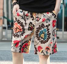 Free Shipping Foreign trade explosion cotton Linen Men's Beach Quick Dry Casual Shorts Fashion five cents L-3XL 8158R1