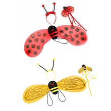 Buy children christmas costumes Ladybird Bee Wing suits Wand Headband princess Cosplay kids girls fairy party costumes fancy dress for $2.58 in AliExpress store