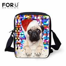 FORUDESIGNS Merry Christmas Dog Children Small School Bags Casual Boys Girls School Book Bags for Kindergarten Baby Kids's Gift(China)