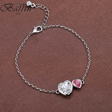 BAFFIN Charm Bracelet Bangle For Women Crystal Hearts Pulseira Women Party Wedding Jewelry Made With SWAROVSKI Elements